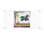 Vintage Plum Fruit Collage Banner