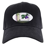 Vintage Plum Fruit Collage Black Cap
