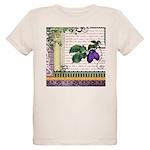Vintage Plum Fruit Collage Organic Kids T-Shirt