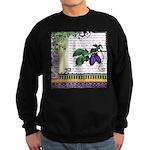 Vintage Plum Fruit Collage Sweatshirt (dark)