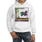 Vintage Plum Fruit Collage Hooded Sweatshirt