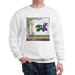 Vintage Plum Fruit Collage Sweatshirt