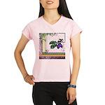 Vintage Plum Fruit Collage Performance Dry T-Shirt