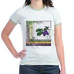 Vintage Plum Fruit Collage Jr. Ringer T-Shirt