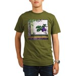 Vintage Plum Fruit Collage Organic Men's T-Shirt (