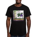 Vintage Plum Fruit Collage Men's Fitted T-Shirt (d