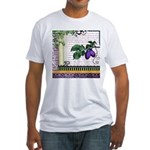 Vintage Plum Fruit Collage Fitted T-Shirt