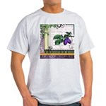 Vintage Plum Fruit Collage Light T-Shirt