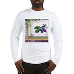 Vintage Plum Fruit Collage Long Sleeve T-Shirt