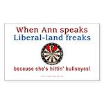 Ann speaks Sticker (Rectangle 50 pk)