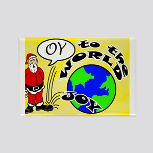Oy to the World Rectangle Magnet