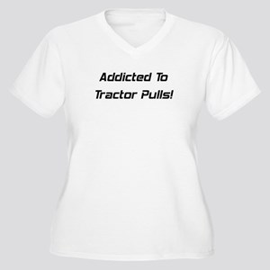 Addicted To Tractor Pulls Women's Plus Size V-Neck