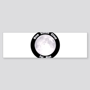 One Small Step For Man Sticker (Bumper)