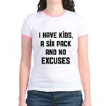 Kids and no excuses Jr. Ringer T-Shirt