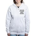 Kids and no excuses Women's Zip Hoodie