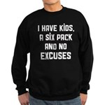 Kids and no excuses Sweatshirt (dark)