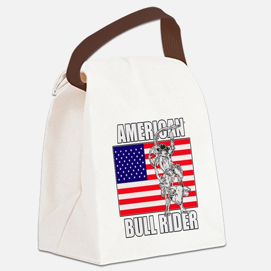 American Bull Rider Canvas Lunch Bag