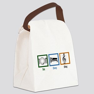 Eat Sleep Sing Canvas Lunch Bag