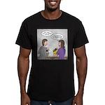 Rice Cake Dilemma Men's Fitted T-Shirt (dark)