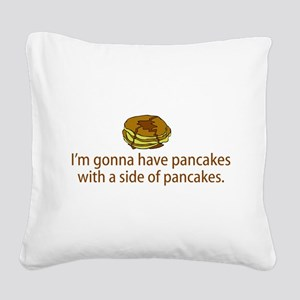 Pancakes Square Canvas Pillow
