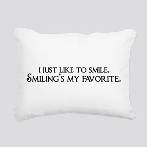 Smiling's My Favorite Rectangular Canvas Pillow