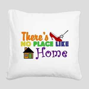 WOZ No Place Like Home Square Canvas Pillow