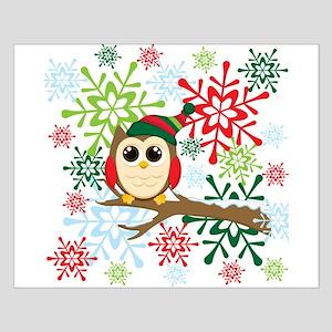 Christmas owl Small Poster