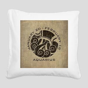 Vintage Aquarius Square Canvas Pillow