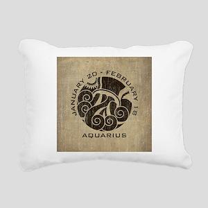 Vintage Aquarius Rectangular Canvas Pillow