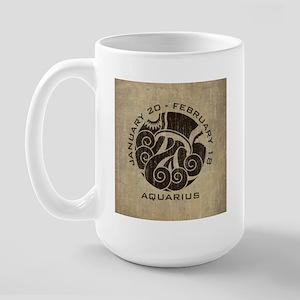 Vintage Aquarius Large Mug
