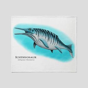 Ichthyosaur Throw Blanket