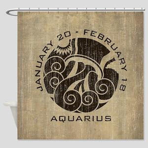 Vintage Aquarius Shower Curtain