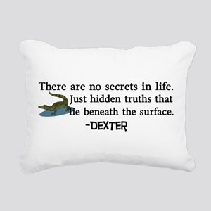 Dexter Secrets Rectangular Canvas Pillow