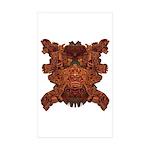 Orange Skull Sticker (Rectangle 50 pk)