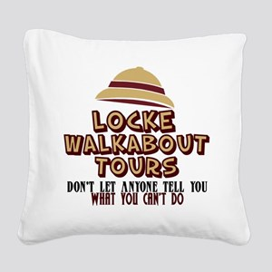 Locke Walkabout Tours Square Canvas Pillow