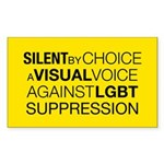 SilentRect Sticker (Rectangle 50 pk)