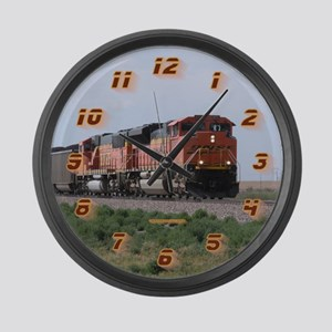BNSF Train Large Wall Clock