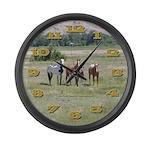 Horses Large Wall Clock