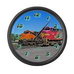 Dual Trains Large Wall Clock