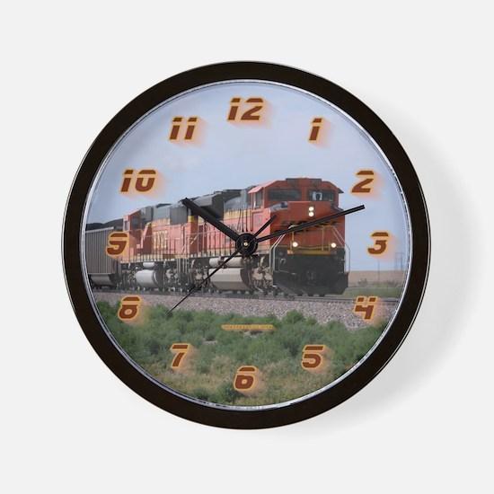 Bnsf Train Wall Clock
