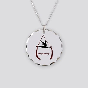 Defy Gravity Necklace Circle Charm