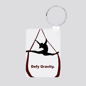 Defy Gravity Aluminum Photo Keychain