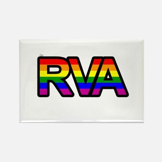 Go RVA LGBT Rectangle Magnet