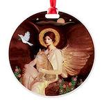 Angel3 - Orange Tabby cat Round Ornament