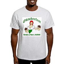 Oktoberfest...Grab a few Jugs! Ash Grey T-Shirt