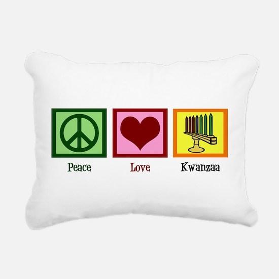 Peace Love Kwanzaa Rectangular Canvas Pillow