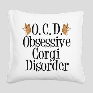 Corgi Obsessed Square Canvas Pillow