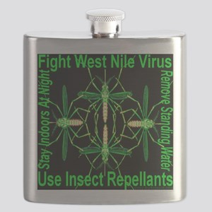 Fight West Nile Virus Flask
