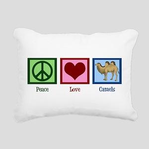 Peace Love Camels Rectangular Canvas Pillow