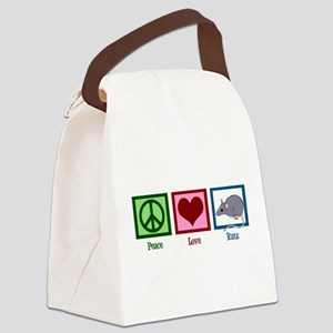 Peace Love Rats Canvas Lunch Bag